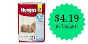 Target: Huggies Jumbo Pack Diapers Only $4.19!!