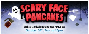 FREE Scary Face Pancake at IHOP – Tomorrow Only!