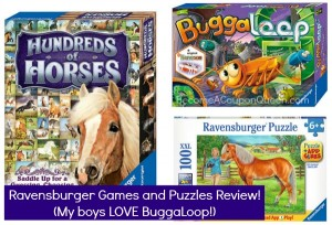 Ravensburger Games and Puzzles Review! (My boys LOVE BuggaLoop!)