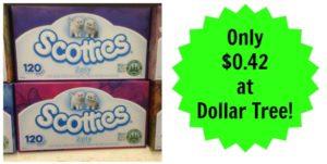 Dollar Tree: Scotties Tissues Only $0.42!