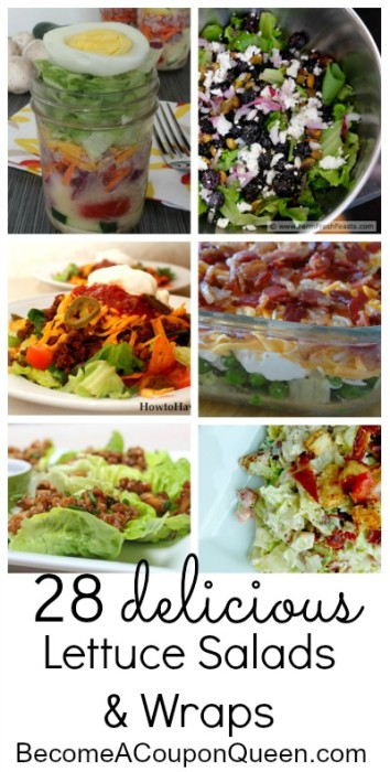 28 delicious lettuce salads and wraps