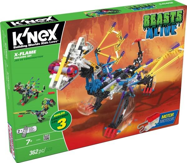 K'NEX Beasts Alive X-Flame Building Set