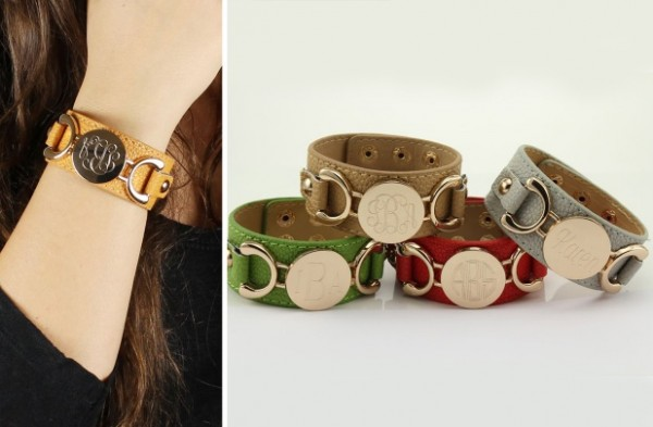 Personalized Leather Cuff Bracelet