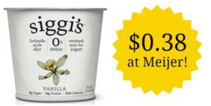 Meijer: Siggi's Yogurt Only $0.38!