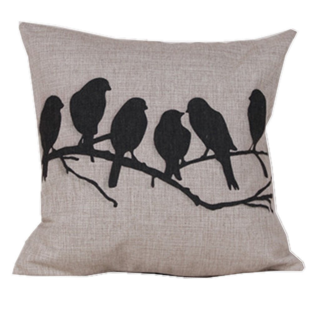 Throw Pillows Dollar General : Birds on a Branch Pillow Cover Only USD3.67 plus FREE Shipping! - Become a Coupon Queen