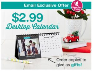 Personalized Desktop Calendar Only $2.99! (reg. $9.99)
