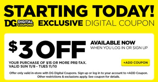 Dg digital coupons login