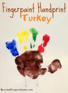 Fingerpaint Handprint Turkey