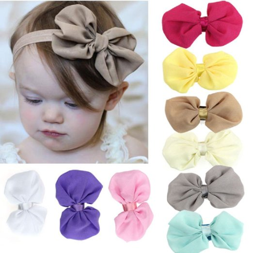 girls chiffon hairbow