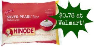 Walmart: Hinode Rice Only $0.78!
