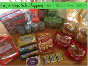 Kroger Mega Sale Shopping – Spent $21.86, Saved $50.77!