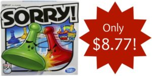 Sorry! 2013 Edition Game Only $8.77!