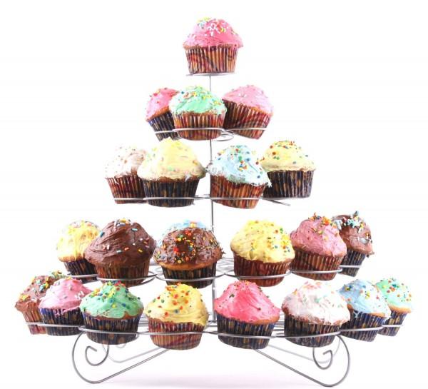 41-Cupcake Multi-Tiered Metal Dessert and Cupcake Stand