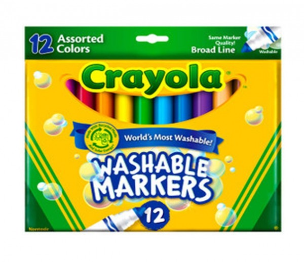 Crayola Count of 12 Ultraclean Washable Markers Color Max