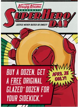 Krispy Creme Superhero Day