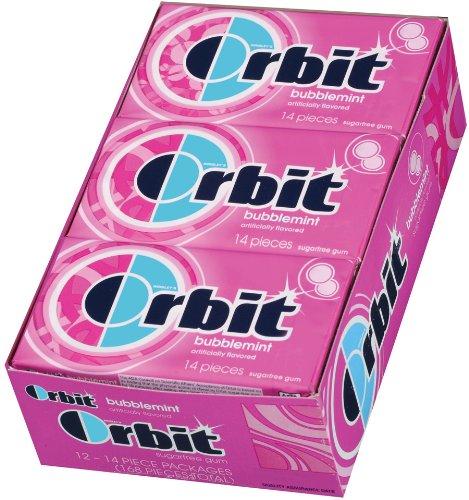 Orbit Bubblemint Sugar Free Gum, 14 Piece Pack (24 Count)