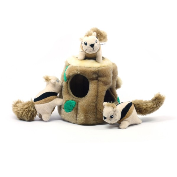 Outward Hound Hide-A-Squirrel Holiday Squeaking Dog Toys