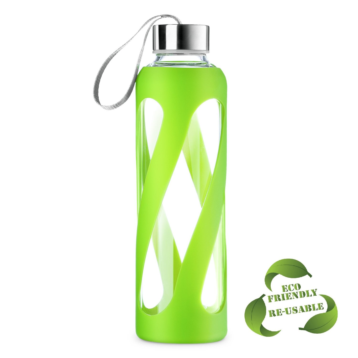 Borosilicate 20oz Glass Water Bottle with Silicone Sleeve Only