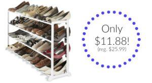 Whitmor White Resin 20 Pair Shoe Rack Only $11.88! (reg. $25.99)