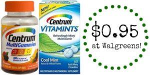 Walgreens: Centrum Vitamins Only $0.95!