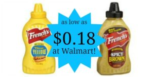 Walmart: French's Mustard as low as $0.18!