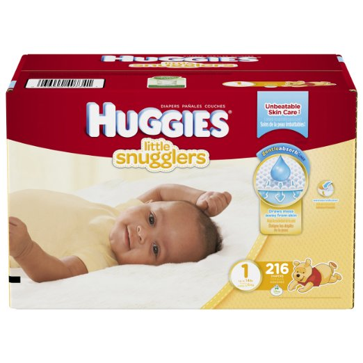 huggies little snugglers size 1 box