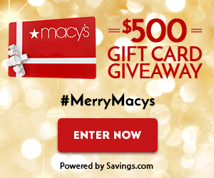 Enter to Win a $50 Macy's Gift Card! (10 winners) #MerryMacys