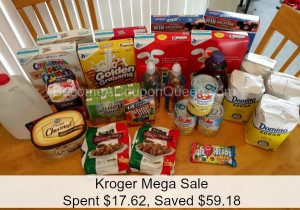 Kroger Mega Sale Shopping: Spent $17.62, Saved $59.18!!