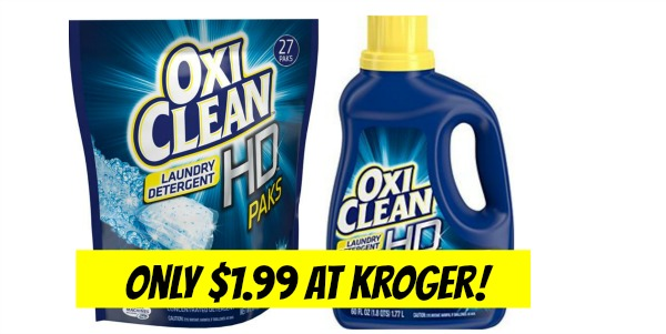 Kroger Oxiclean Detergent Only 1 99 Become A Coupon Queen