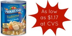 CVS: Progresso Soup as low as $1.17!