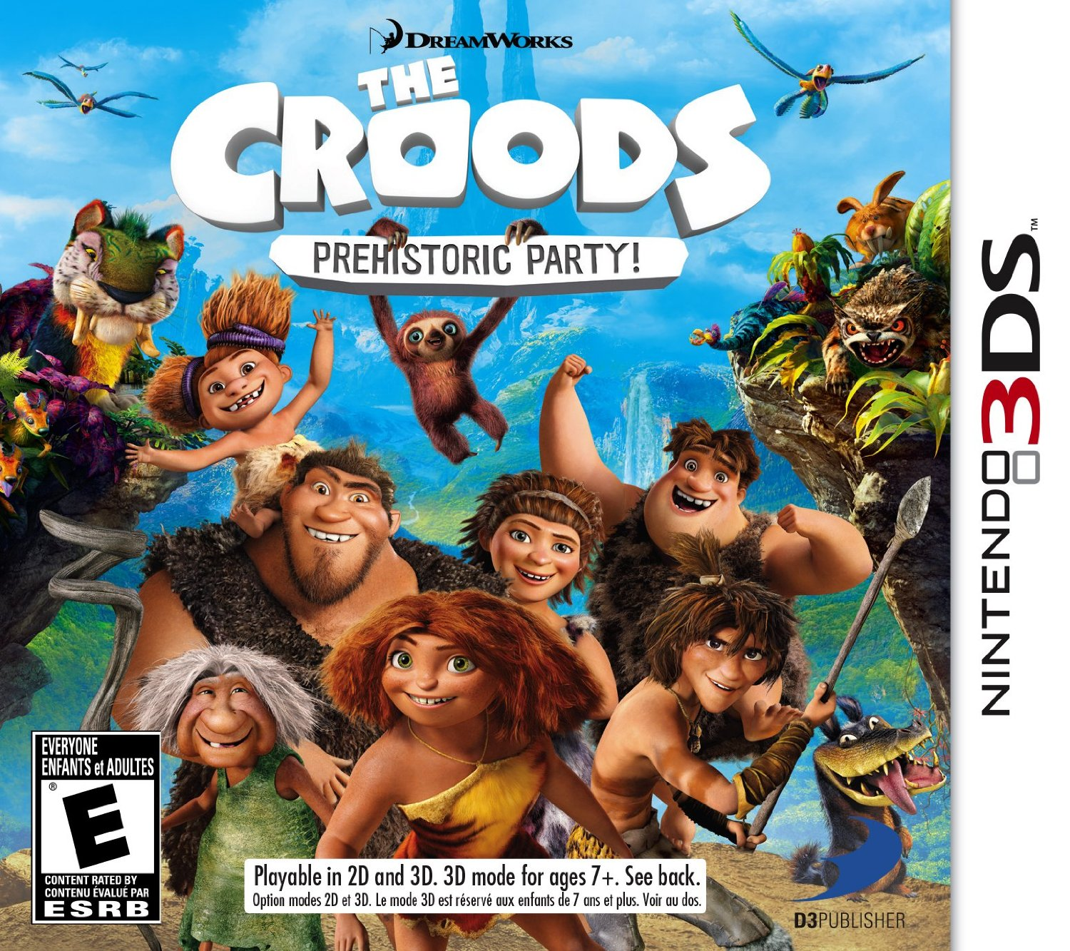 The Croods Prehistoric Party For Nintendo 3DS Only $9.89