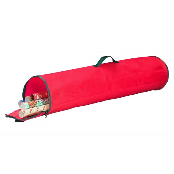 Elf Stor Christmas Gift Wrapping Paper Wrap Storage Bag Red