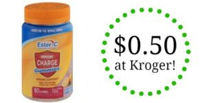 Kroger: Ester-C Immune Support as low as $0.50!