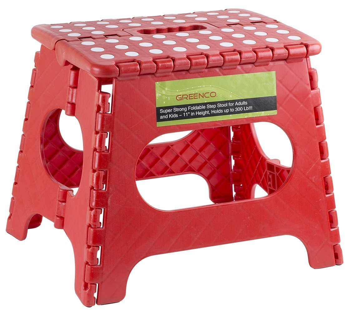 Greenco Super Strong Foldable Step Stool Only 9 99 Reg