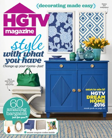 Subscription to HGTV Magazine Only $11.50!