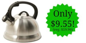 Mr. Coffee Stainless Steel Whistling Tea Kettle Only $9.55! (reg. $19.99)