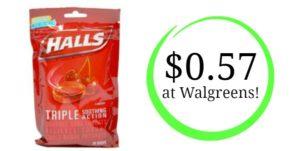 Walgreens: Halls Cough Drops Only $0.57!
