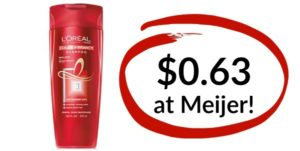 Meijer: L'Oreal Paris Shampoo or Conditioner Only $0.63!