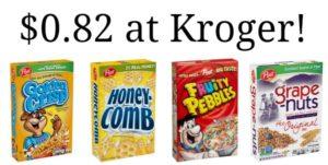 Kroger: Post Cereal Only $0.82!
