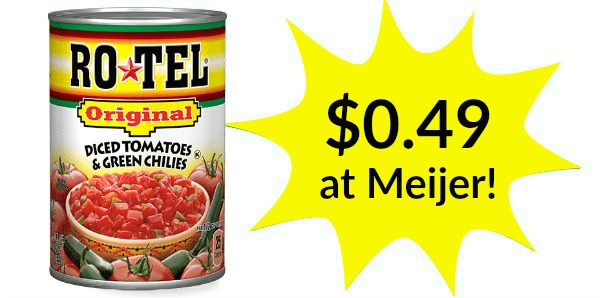 Meijer: Rotel Tomatoes Only $0.49!