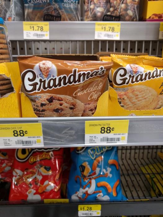 grandma's cookies at walmart