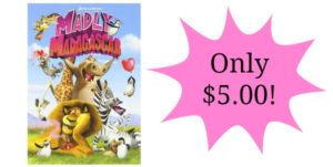 Madly Madagascar DVD Only $5!