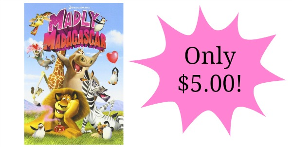 madly madagascar dvd only 5