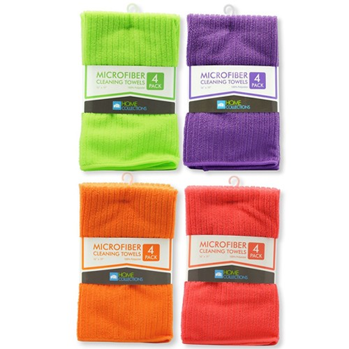Microfiber Kitchen Dish Towels 4 Pack Only Free Shipping Become A Coupon Queen