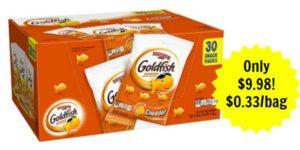 Pepperidge Farm Goldfish Single Serve Packs as low as $0.33 Each!