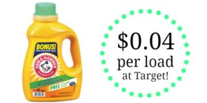 Target: Arm & Hammer Laundry Detergent Only $0.04 per Load!