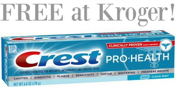 free crest toothpaste