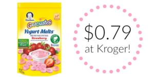 Kroger: Gerber Graduates Yogurt Melts Only $0.79!