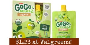 Walgreens: GoGo Squeez Applesauce Pouches Only $1.23!