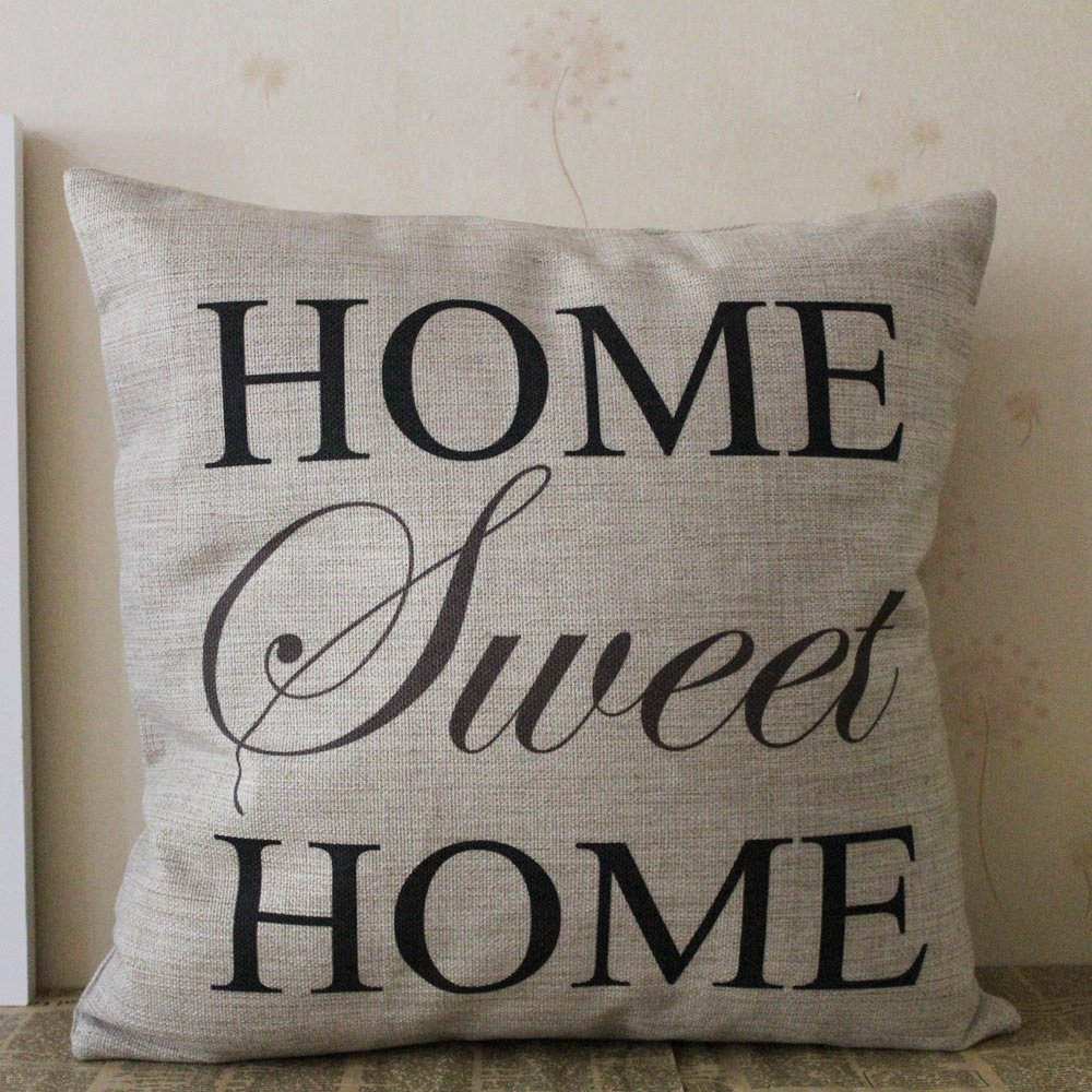 Home Sweet Home Pillow Cover Only 3 88 Free Shipping